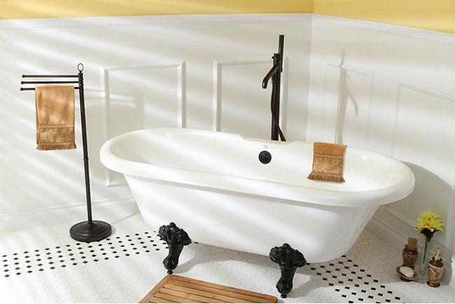Add Parisian touches to your vintage bathroom design.