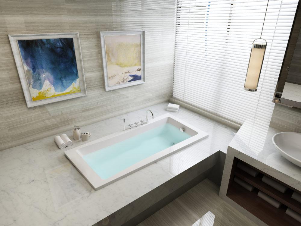 Creating a designer bathroom for less.