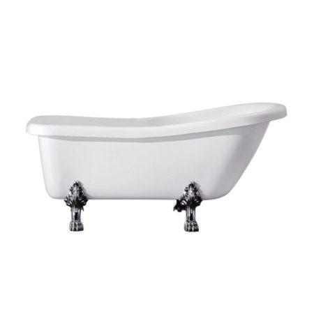 "Kingston Brass Aqua Eden 67"" Acrylic Clawfoot Slipper Tub with 7"" Deck Drillings"