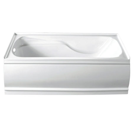 "Kingston Brass Aqua Eden 60"" Contemporary Alcove Acrylic Bathtub- Left Hand Drain"