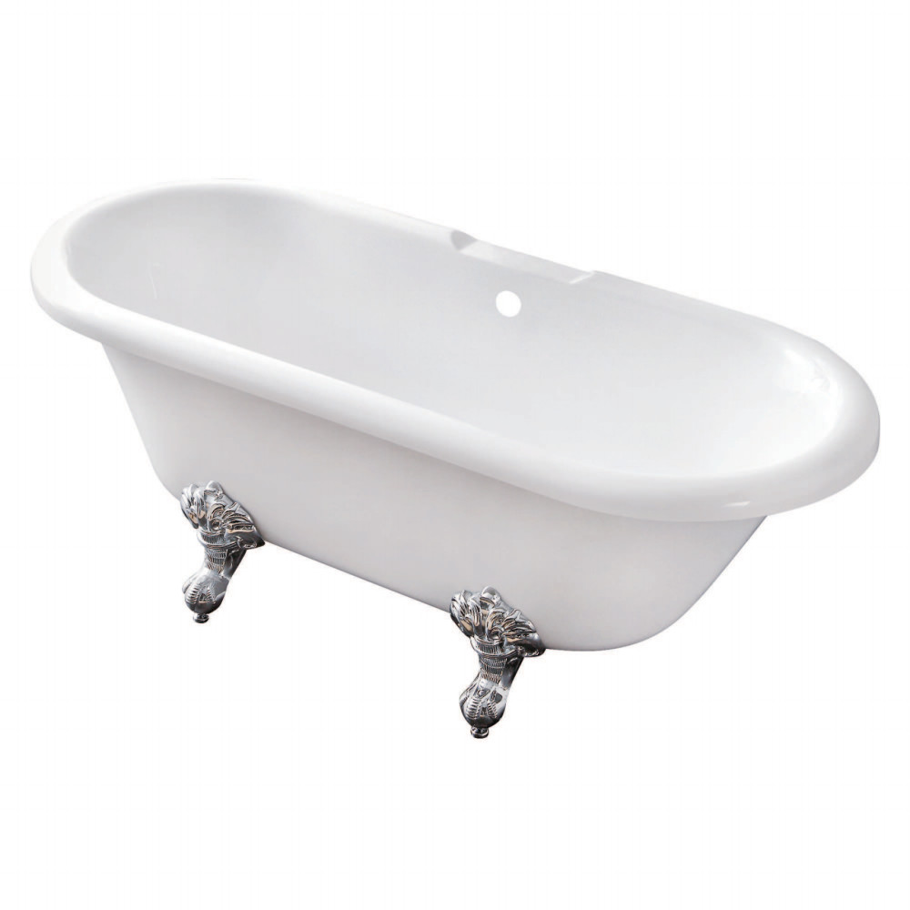 used acrylic clawfoot tub. Kingston Brass Aqua Eden 67  Acrylic Clawfoot Double Ended Tub Without Drillings Bath