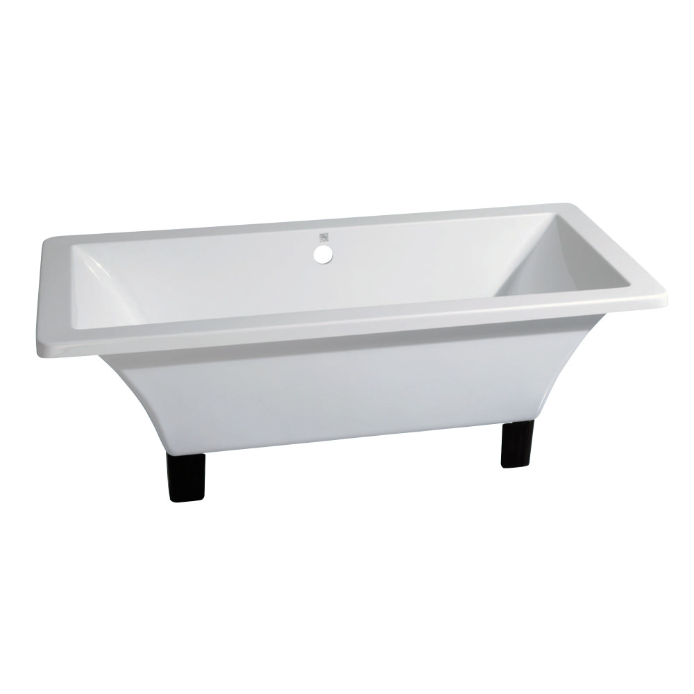 kingston brass aqua eden 71 inch acrylic square clawfoot tub with feet no faucet drillings. Black Bedroom Furniture Sets. Home Design Ideas