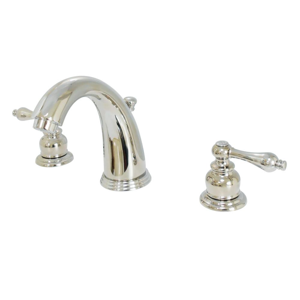 Kingston Brass KB986ALPN Widespread Lavatory Faucet, Polished Nickel ...