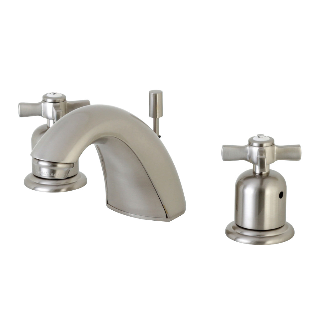 Kingston Brass FB8958ZX Mini-Widespread Lavatory Faucet, Brushed ...