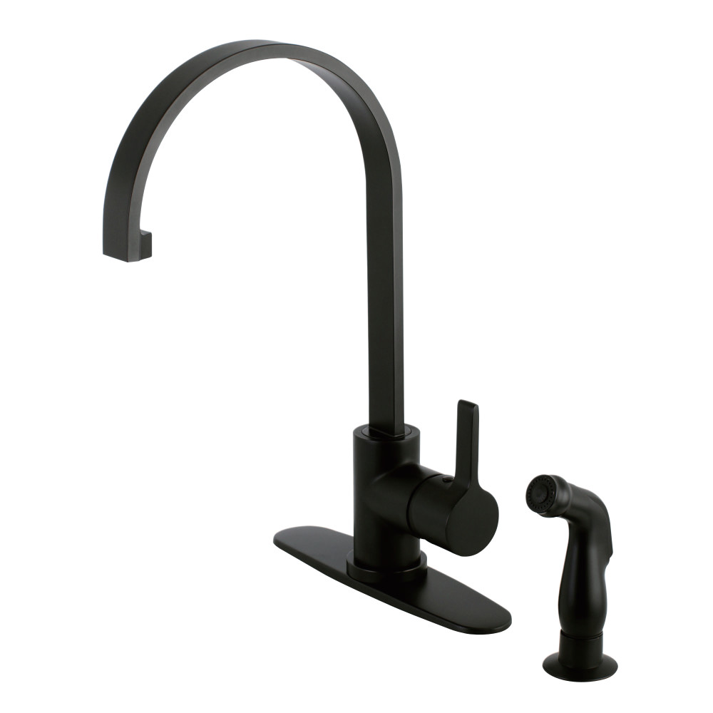 pull view lever satin alt alternate handle solo spray nickel kitchen single faucet with out