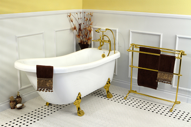 Add Victorian accents to your bathroom decor