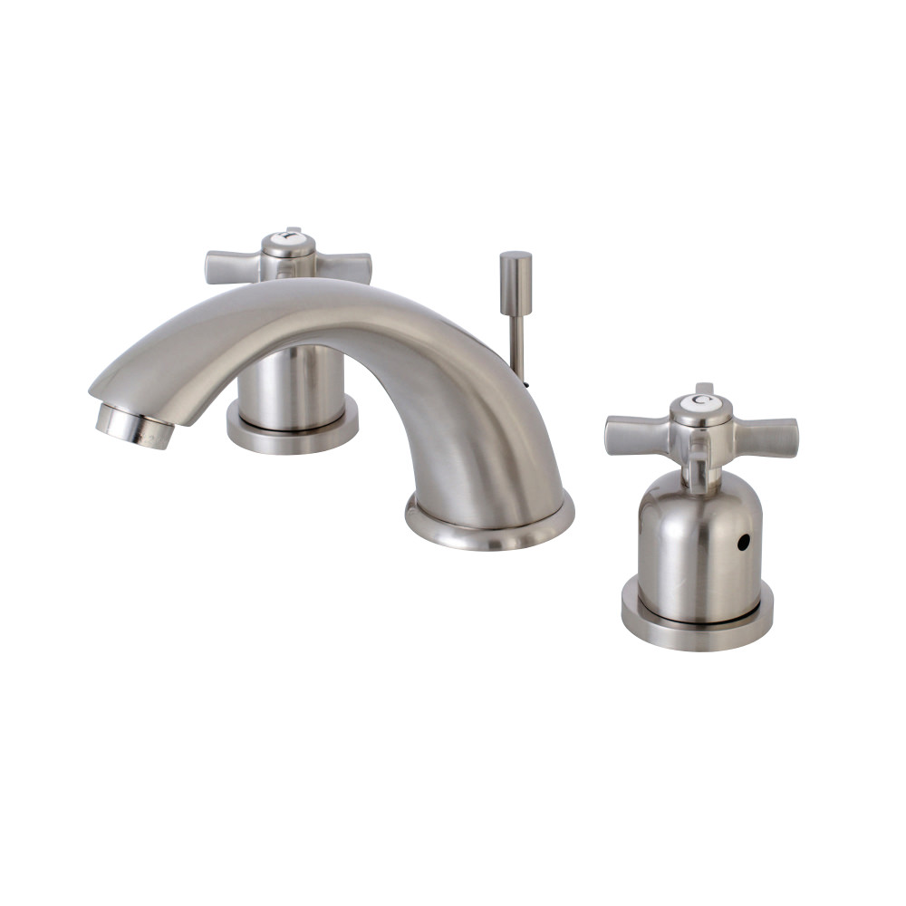 Kingston brass kb8968zx 8 inch widespread lavatory faucet - 8 inch brushed nickel bathroom faucet ...