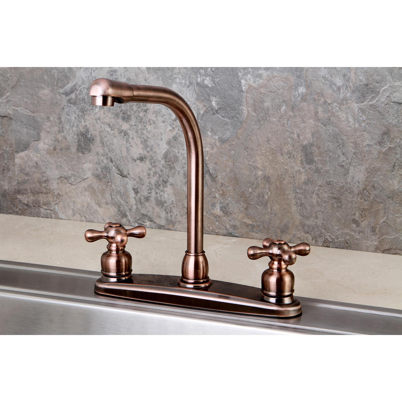 Kingston brass kb716axls victorian high arch kitchen - Kingston brass victorian bathroom faucet ...