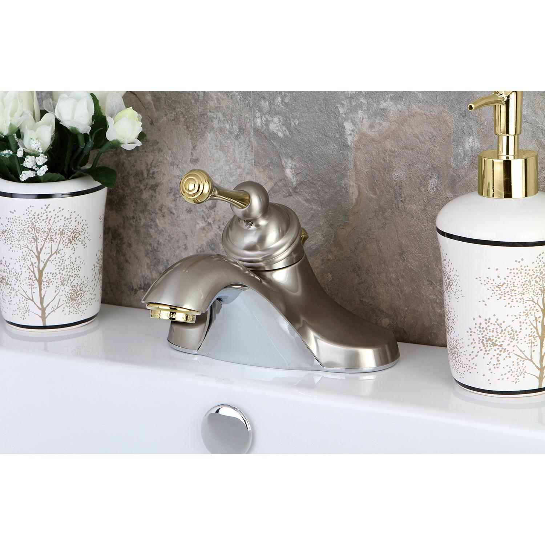 Kingston brass kb3549 victorian 4 inch centerset lavatory - Kingston brass victorian bathroom faucet ...