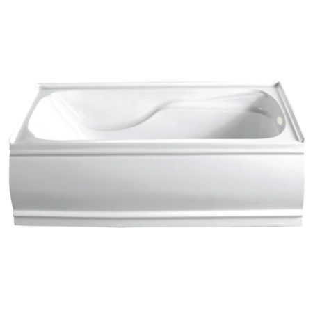 "Kingston Brass Aqua Eden 60"" Contemporary Alcove Acrylic Bath Tub- Right Hand Drain"