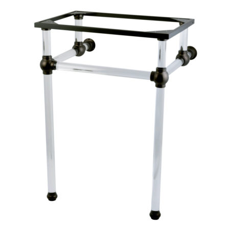 Fauceture VAH282033ORB Console Basin Holder with Acrylic Pedestal, Oil Rubbed Bronze