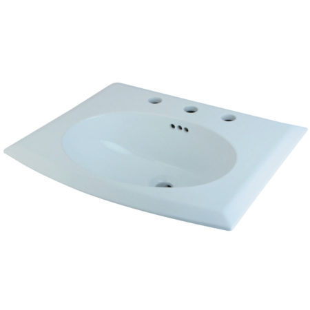 Fauceture LBTS22187W38 Courtyard Surface Mount Basin, White