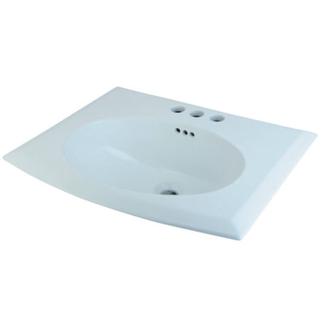 Fauceture LBTS22187W34 Courtyard Surface Mount Basin, White