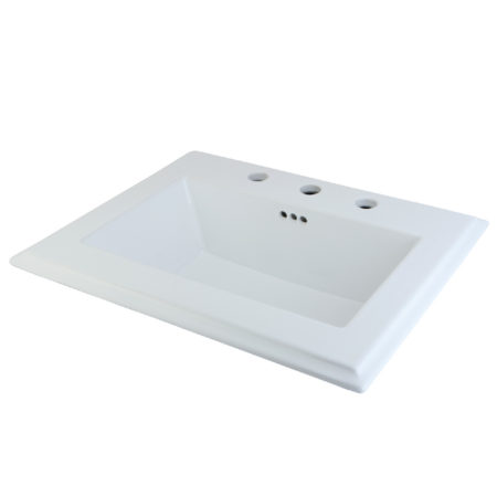 Fauceture LBT23196W38 Concord Surface Mount Basin, White