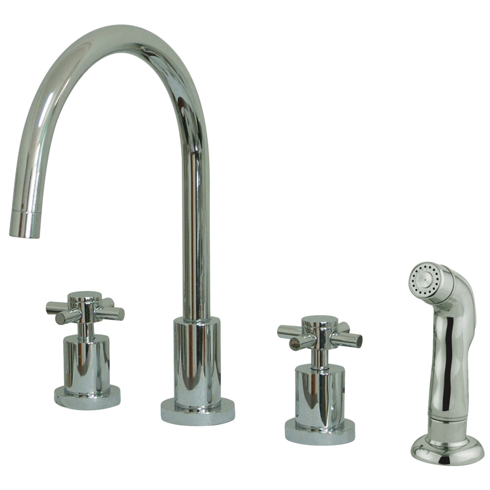 Kingston Brass KS8721DX Concord Widespread Kitchen Faucet with ...