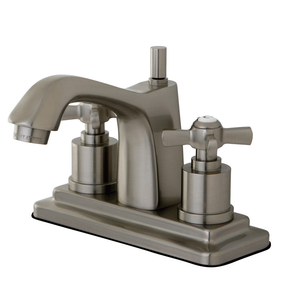 Kingston Brass Ks8648zx 4 Centerset Lavatory Faucet Satin Nickel Kingston Brass