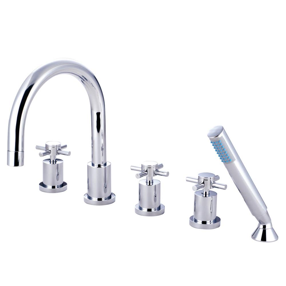 Kingston Brass KS83215DX Concord 5 Piece Roman Tub Filler Faucet ...
