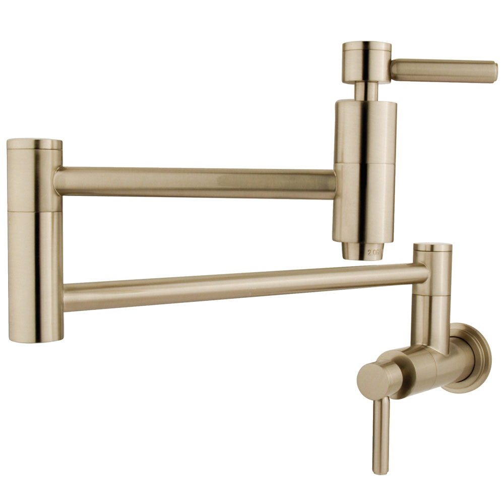 Kingston Brass KS8108DL Concord WallMount Pot Filler Brushed
