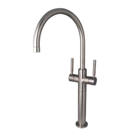 kingston brass ks8098dl concord vessel sink faucet satin nickel