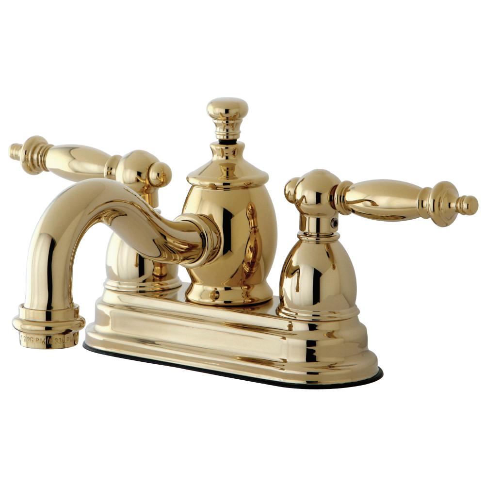 Kingston Brass Ks7102tl Templeton 4 Inch Centerset Lavatory Faucet With Brass Pop Up Polished