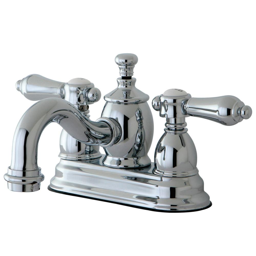 Kingston Brass KS7101BAL 4-Inch Centerset Lavatory Faucet, Polished ...