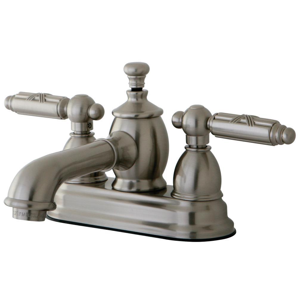 Kingston Brass Ks7008gl Georgian 4 Inch Centerset Lavatory Faucet With Brass Pop Up Satin