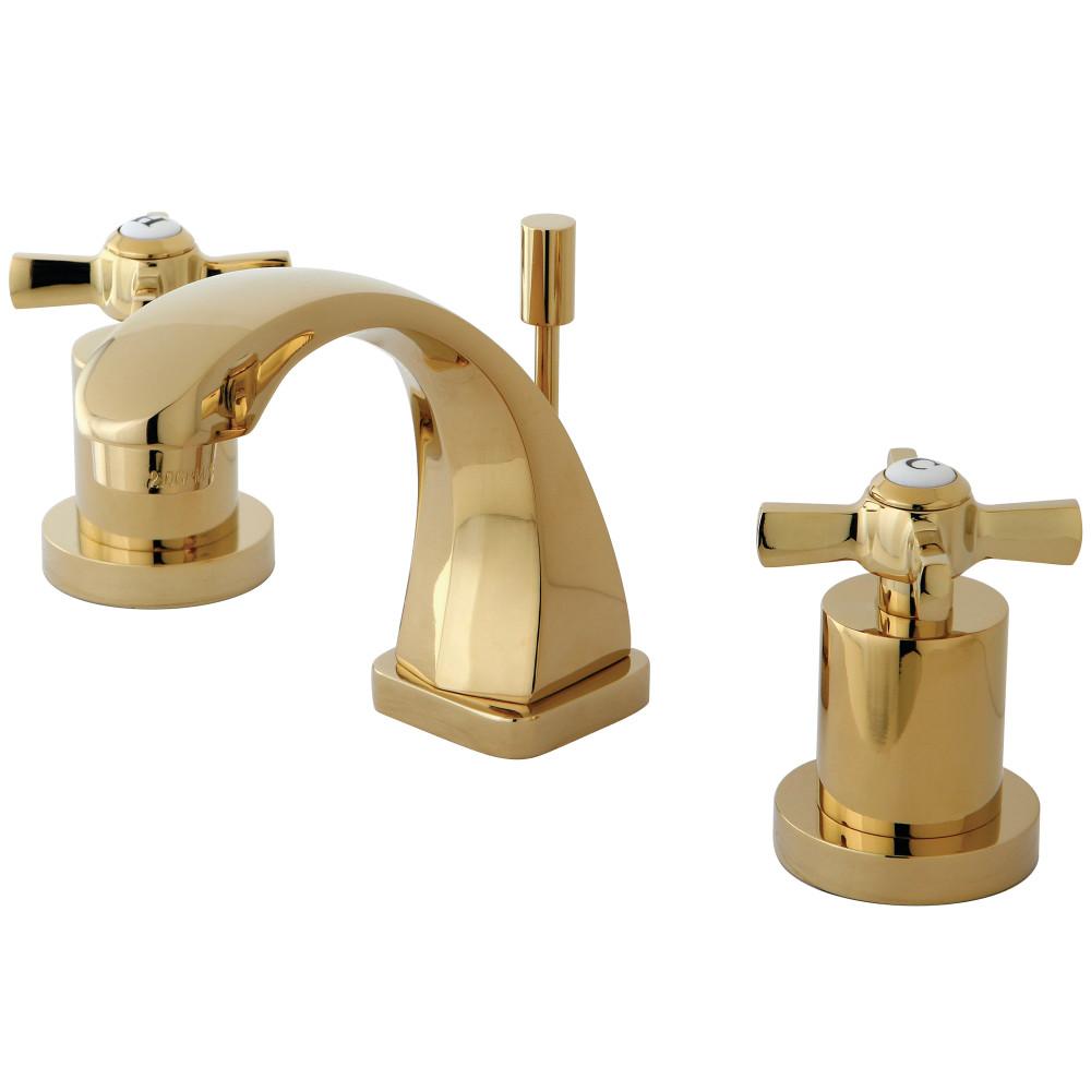 Kingston Brass KS4942ZX Mini Widespread Lavatory Faucet, Polished ...