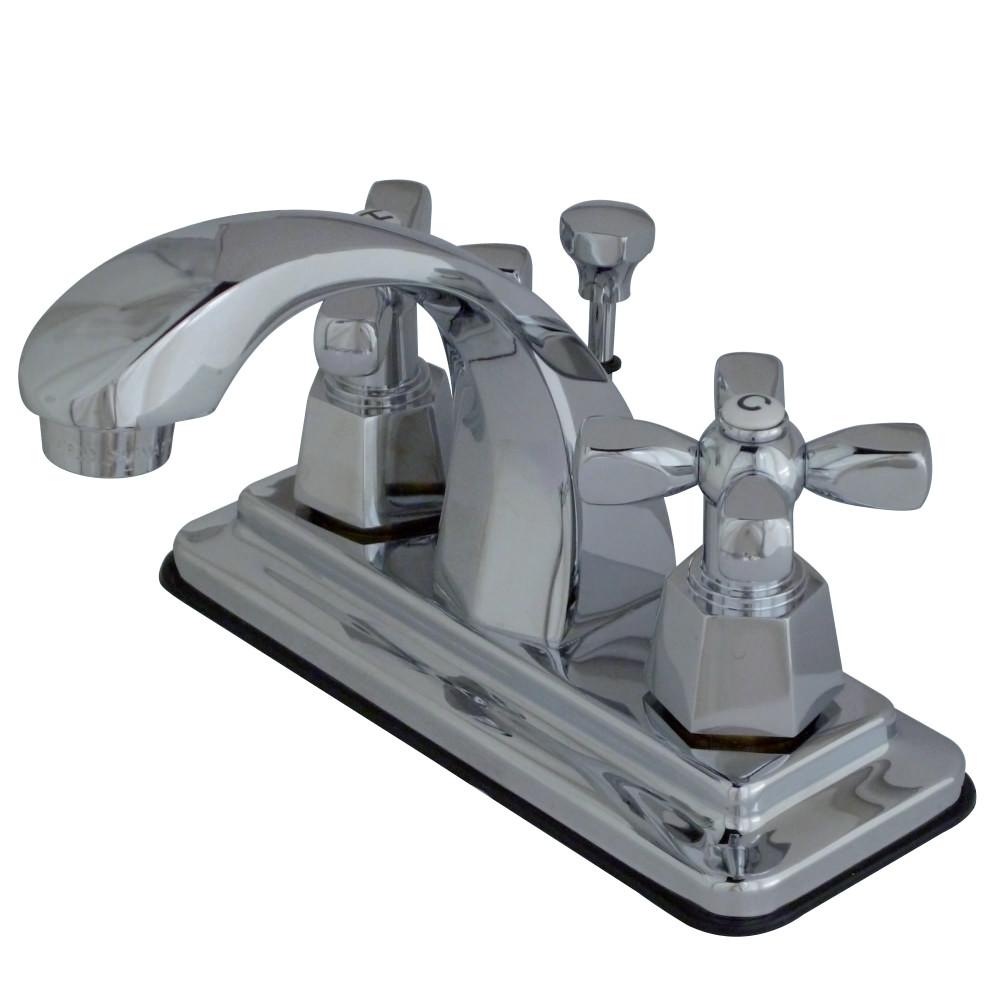Kingston Brass Ks4641hx 4 Inch Centerset Lavatory Faucet With Pop Up Chrome Kingston Brass