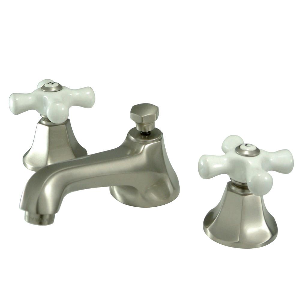 Kingston Brass KS4468PX Metropolitan Widespread Faucet Porcelain ...