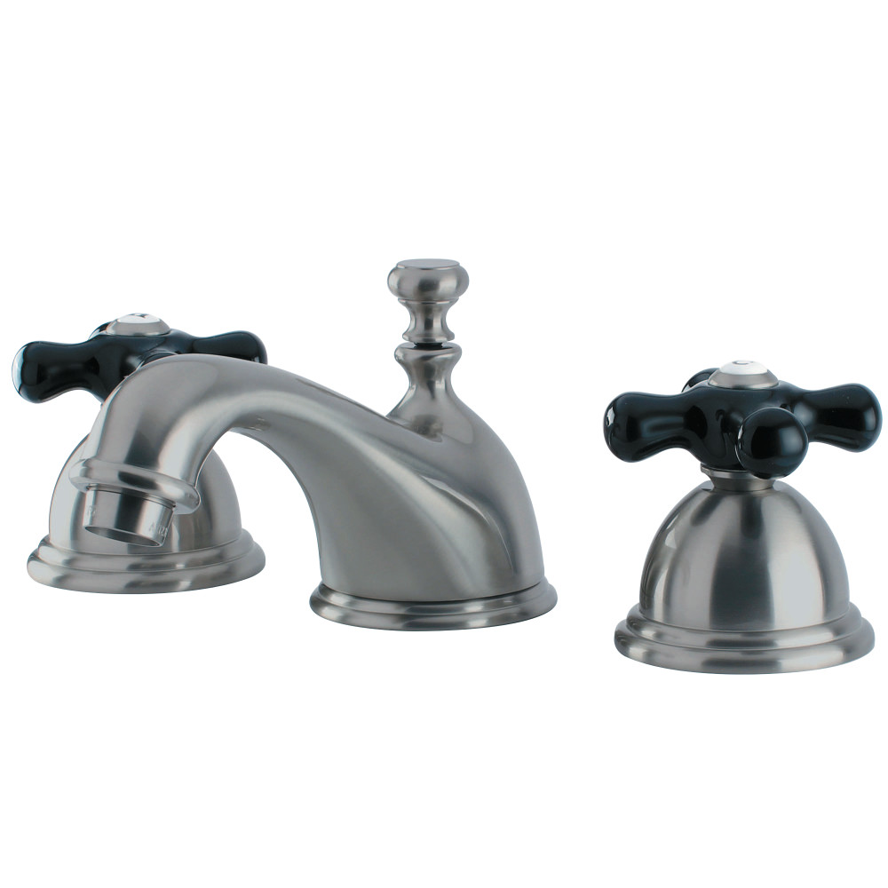 Kingston Brass Ks3968pkx Duchess Widespread Lavatory Faucet With Cross Handle Brushed Nickel