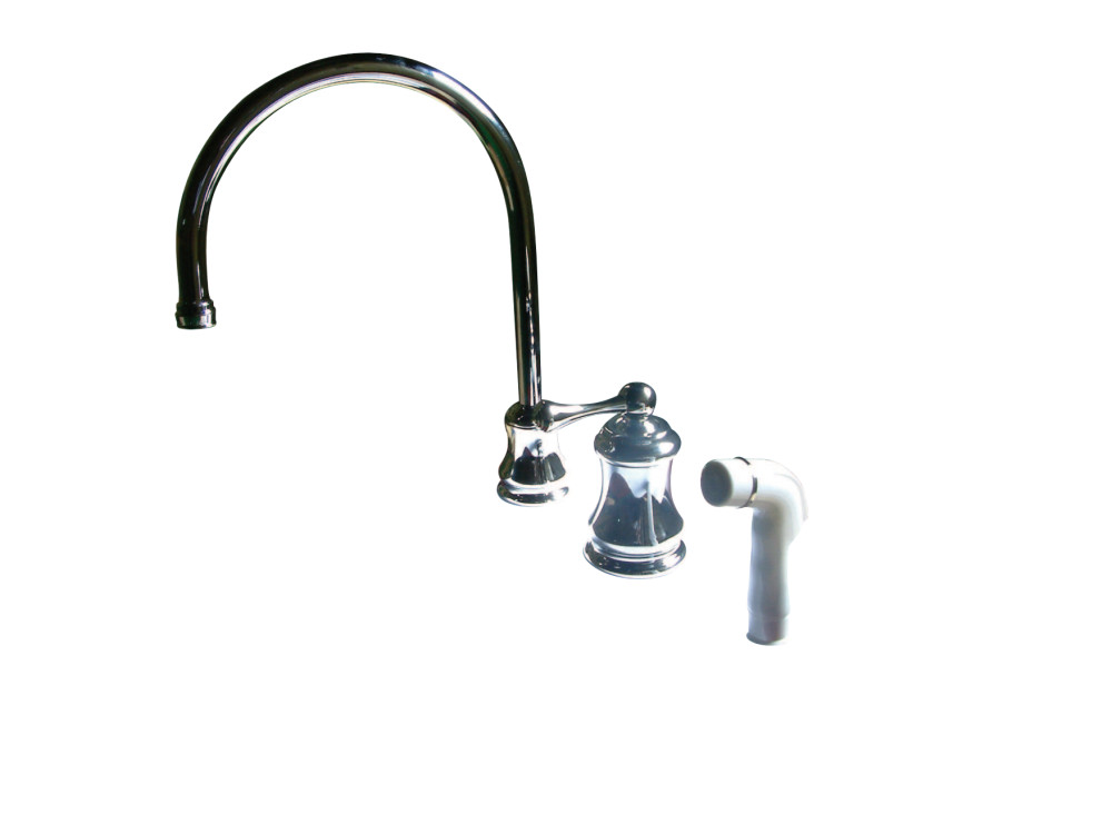 Kingston Brass KS3811AL Restoration Widespread Kitchen Faucet With ...