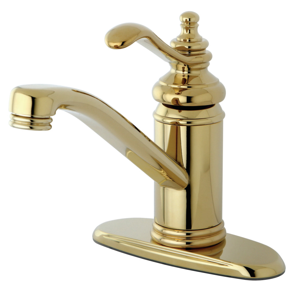 Kingston Brass Ks3402tl Templeton 4 Single Handle Lavatory Faucet With Brass Pop Up Polished