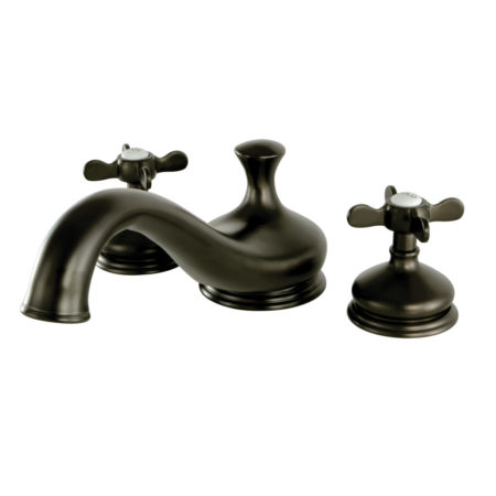Kingston Brass KS3335BEX Roman Tub Filler with Cross Handle, Oil Rubbed Bronze