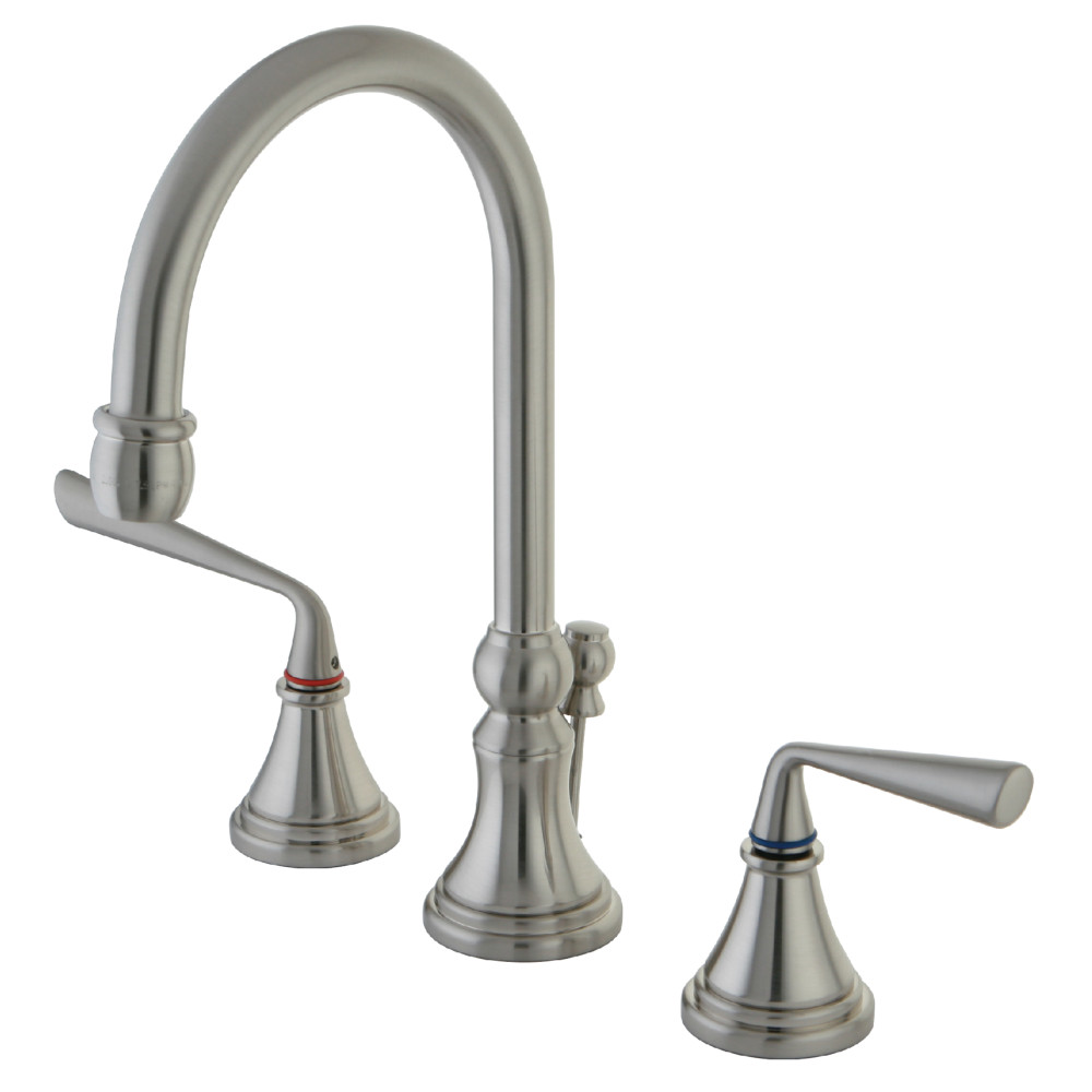 Kingston Brass KS2988ZL Silver Sage Widespread Lavatory Faucet with ...