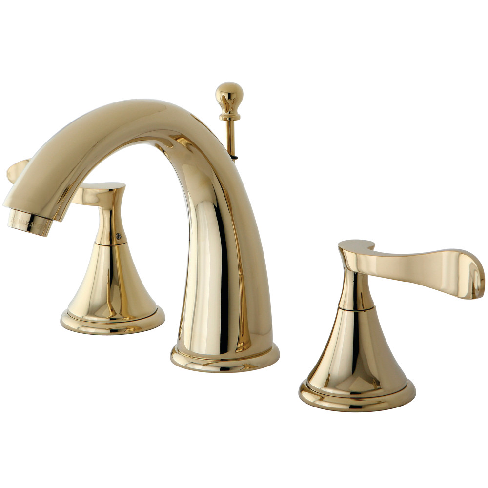 Kingston Brass KS2972CFL Century Widespread Lavatory Faucet with Pop ...