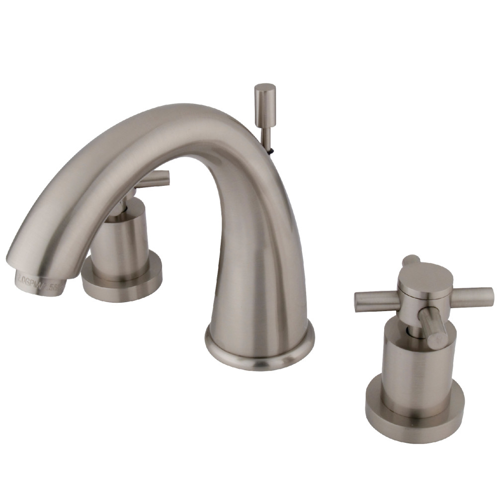 Brushed Brass Bathroom Faucets: Kingston Brass KS2968DX Concord Widespread Lavatory Faucet