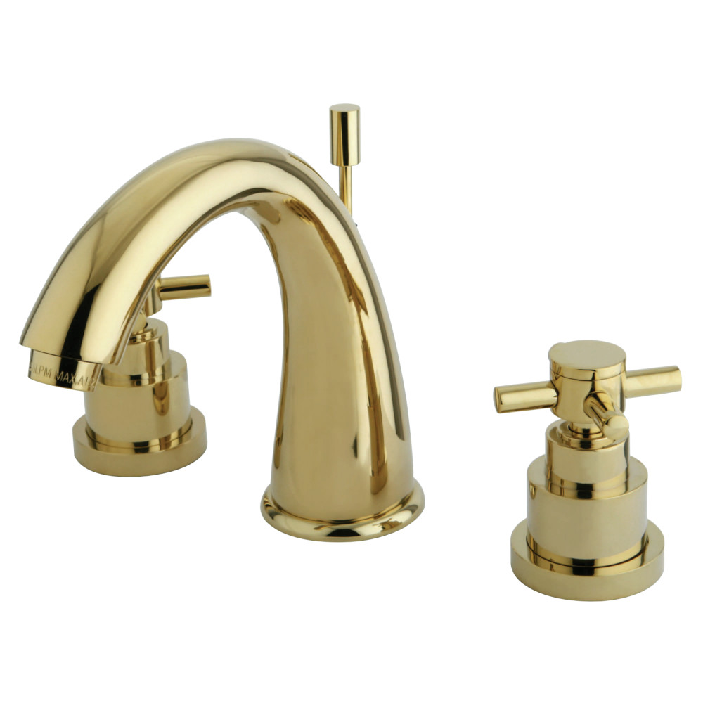 Kingston brass ks2962ex widespread lavatory faucet 7 inch - Brass bathroom faucets widespread ...