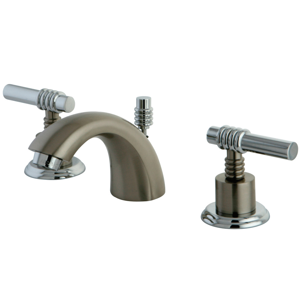 Kingston Brass Ks2957ml Mini Widespread Lavatory Faucet With Ml Handle Satin Nickel Chrome