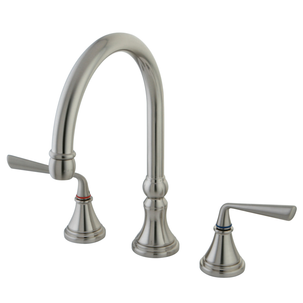 Kingston Brass KS2798ZLLS Silver Sage Widespread Kitchen Faucet ...