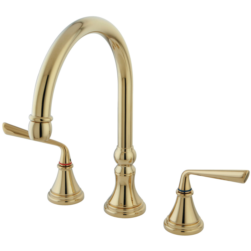 polished brass kitchen faucets kingston brass ks2792zlls silver sage widespread kitchen faucet polished brass kingston brass 133