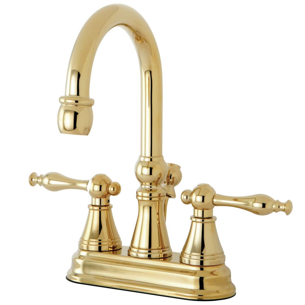 Kingston Brass Ks2612nl 4 Inch Centerset Lavatory Faucet With Brass Pop Up Polished Brass
