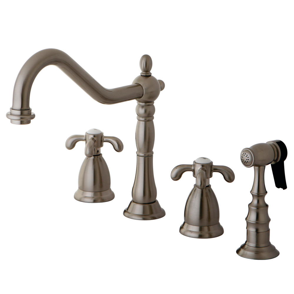 Country kitchen faucets blue cabin