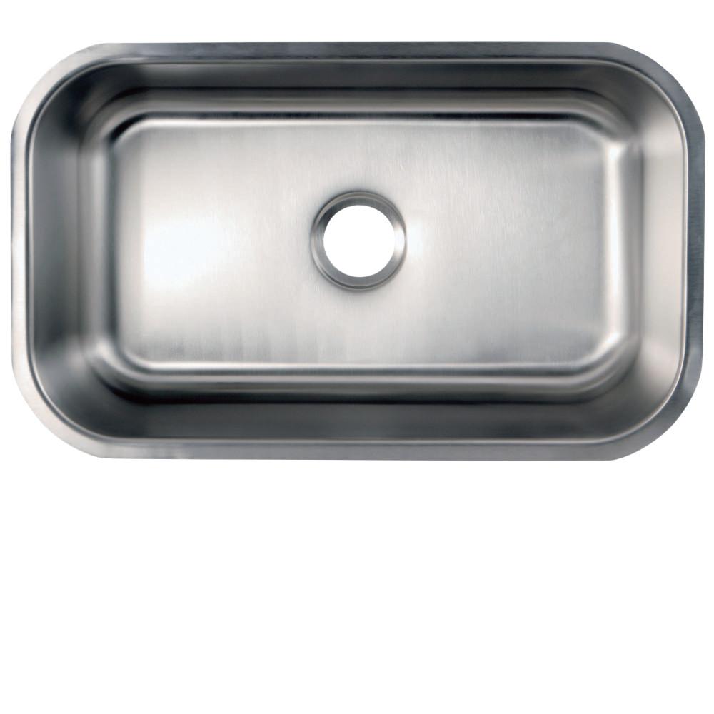 Kingston brass kgkus3018 undermount stainless steel single bowl kingston brass kgkus3018 undermount stainless steel single bowl kitchen sink combo with strainers brushed nickel workwithnaturefo