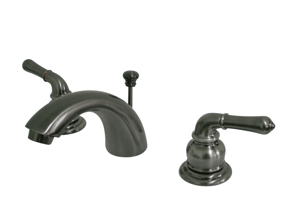 Kingston brass kb953 mini widespread lavatory faucet - 4 inch widespread bathroom faucets ...