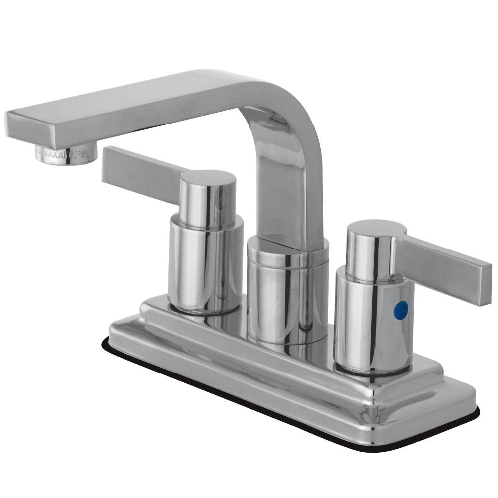 Kingston Brass Kb8461ndl Nuvofusion Lavatory Faucet With Pop Up Polished Chrome Kingston Brass