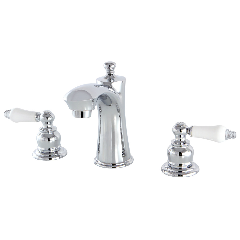 Kingston brass kb7961pl 8 inch widespread lavatory faucet for 8 widespread bathroom faucet chrome