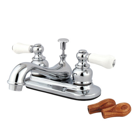 Kingston Brass KB601B Restoration Lavatory Faucet with Pop-Up, Polished Chrome