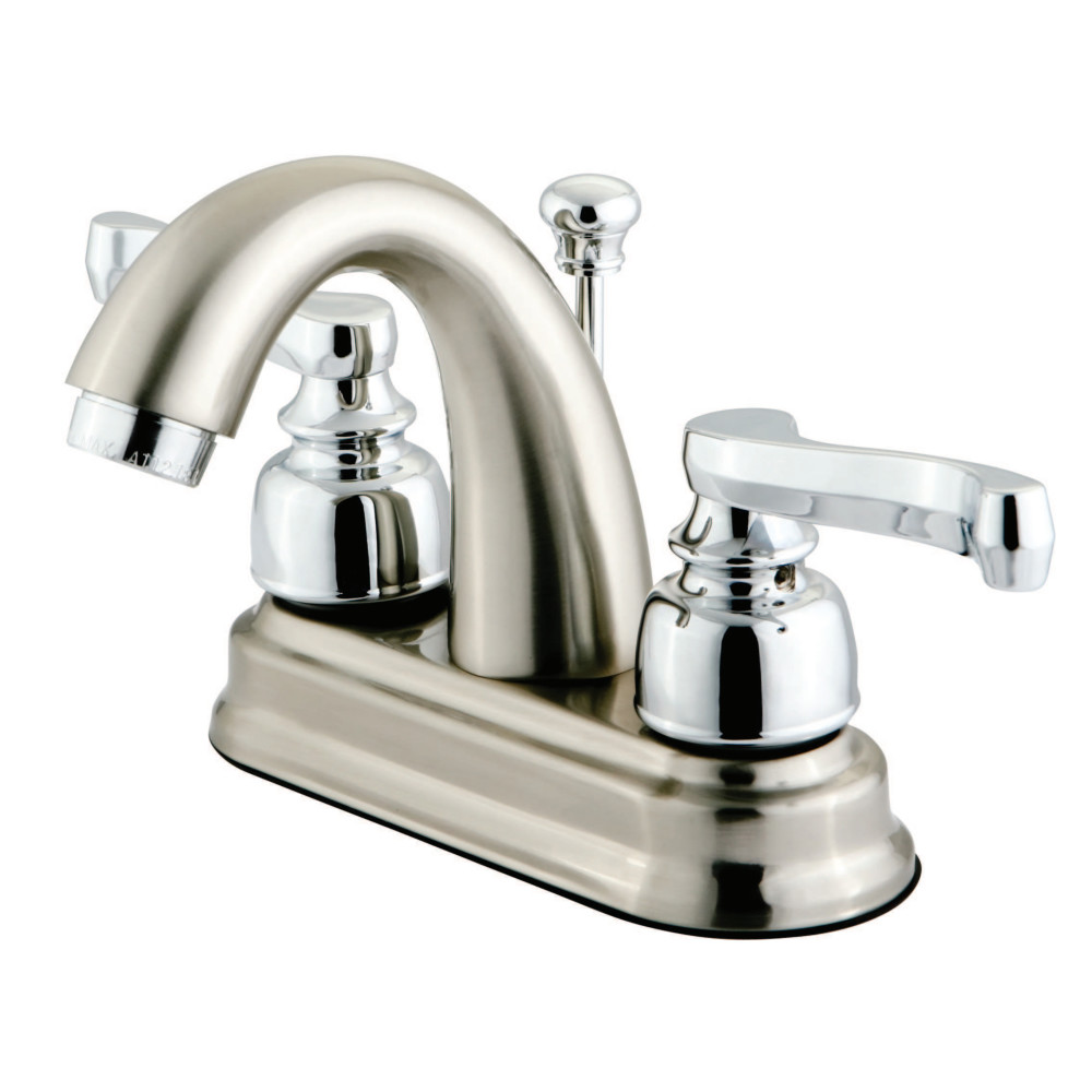 Kingston Brass Kb5617fl Centerset Lavatory Faucet With High Rise Spout And Handle Brushed