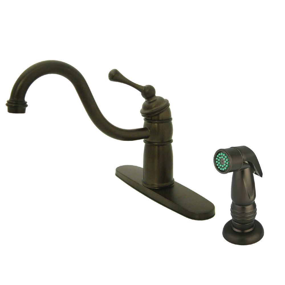 Kingston brass kb1575bl victorian mono block kitchen - Kingston brass victorian bathroom faucet ...