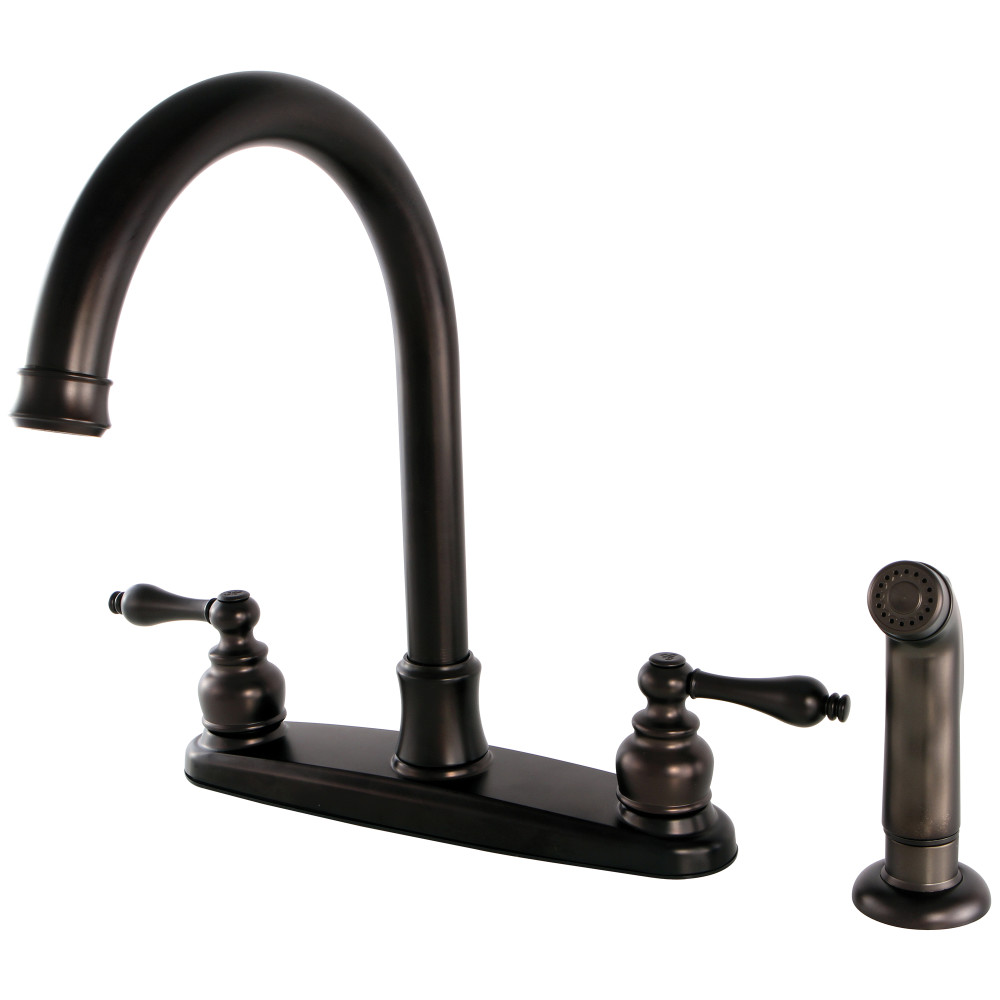 Kingston Brass Fb7795alsp Victorian 8 Inch Centerset Kitchen Faucet Oil Rubbed Bronze